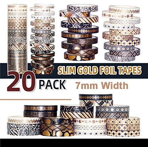 Washi Tape Vintage, NETUME 20 Rollos Decorativo Cinta Adhesiva Scrapbooking para Manualidades,...