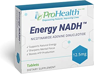 ProHealth Energy NADH (12.5 mg, 90 Tablets) Boost Energy, Mental Clarity, Alertness and Concentration | Unique Cellulose M...