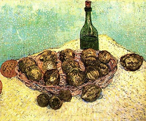 Singing Palette 12 berühmte Gemälde auf Leinwand von akademischen Malern - 40€-1500€ Handgefertigte Ölgemälde - Stillleben Bottle Lemons und Oranges Vincent Van Gogh - Kunst Bilder -Maße07