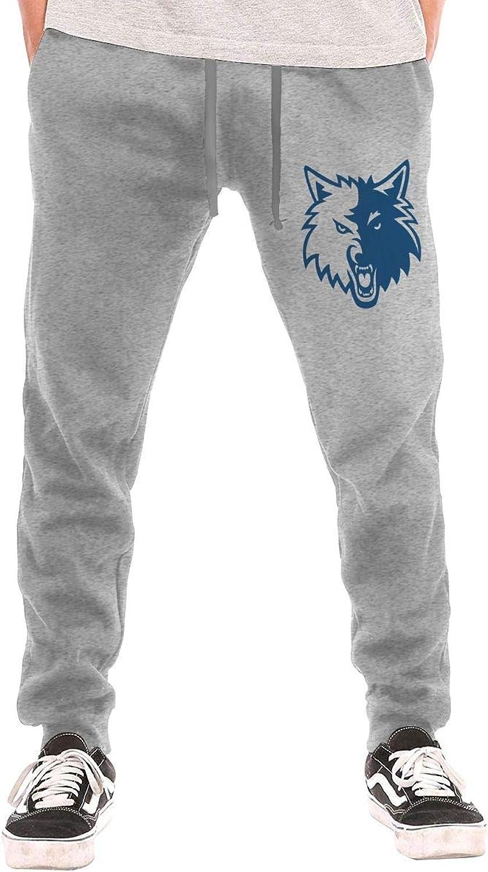 BarWords Men's Casual Sweatpants MinnesotaTimberwolvesLogo1 Jogger Pants Gym Workout Running Sportswear Trousers