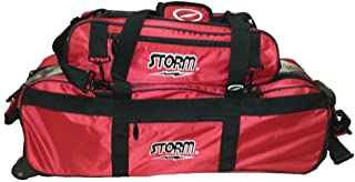Storm Deluxe Tournament 3 Ball Tote Roller- Red