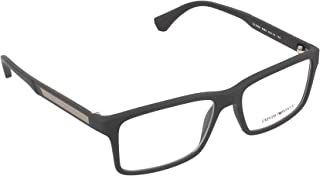 EA 3038 Men's Eyeglasses, Black Rubber, 54/16/140
