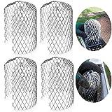 Filtre de Garde de Gouttière Filtre en Mesh de Garde de Descente de 3 Pouces pour Filtre à Feuilles et Pluie Couvertures d'Écran de Gouttière(4 Paquets)