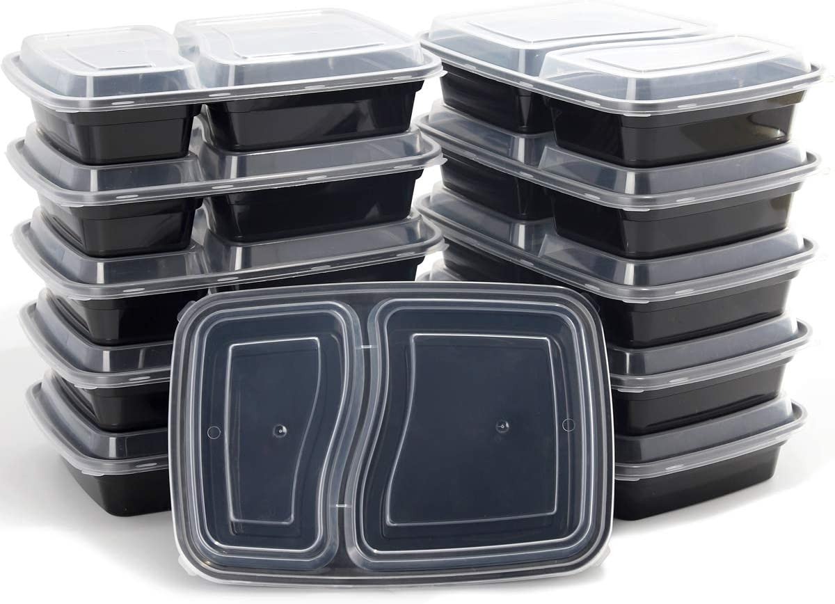 Meal Prep Containers 50 Pack 2 Lids Sale item Food with Sto Rapid rise Compartment