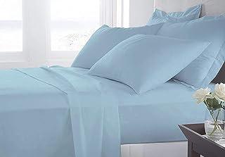 Arcoiris Parure de draps 90 x 200/190 cm 3 pièces, drap-housse ajustable pour lit de 90 cm avec drap du dessus 150 x 250 c...