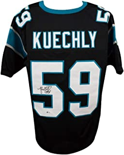 Luke Kuechly Autographed Carolina Panthers Custom Black Football Jersey - BAS COA
