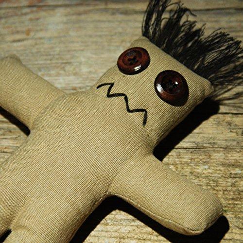 Darko Doll raw - Voodoo Puppe mit Nadel und Ritual-Anleitung