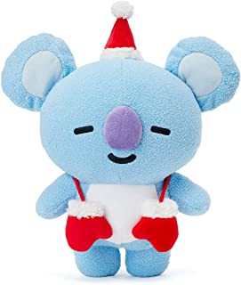 BT21 Official Merchandise with Line Friends - KOYA Character Winter Standing Plush Toy Doll 10 inches