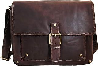 Shalimar Laptoptasche Messenger Bag/Umhängetasche aus geöltem Leder für 13-Laptops