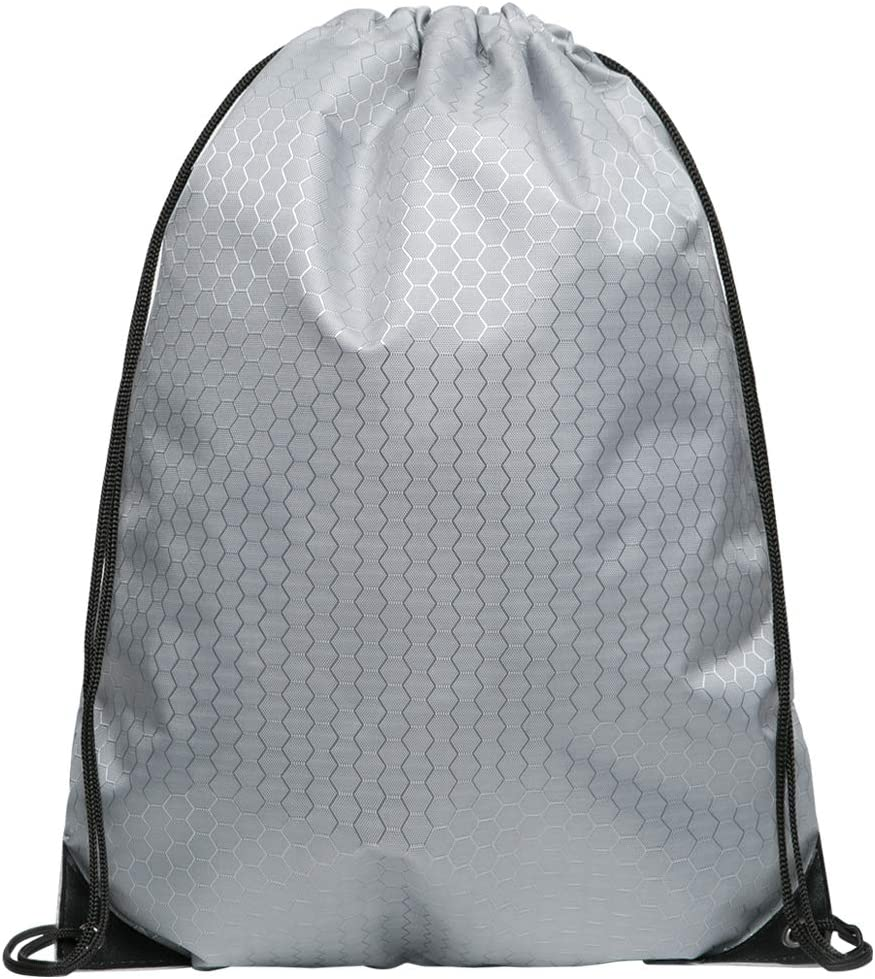 Cinch Bags Drawstring Backpack Not See-through Pull String Bag-Football Pattern