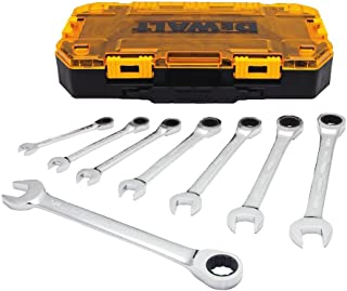DEWALT Combination Ratcheting Wrench Set, 8-Piece SAE (DWMT74733)