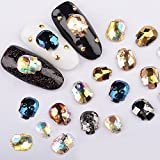 QIMEIYA Mix Color 40pcs Nail Art Flat back 3d Glitter Halloween Skull Rhinestone Decorations...