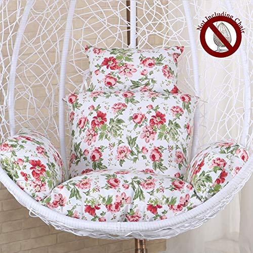 HYXQYZZ Hangmat Ei hangmat stoel kussen comfortabel en zacht katoen met elastische vulling met vliesvoering, schommelstoel met ritssluiting-design, afneembaar en wasbaar
