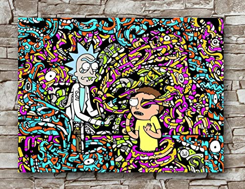 Huawuque Pop Art Poster Rick and Morty Hypebeast, Standardgröße, 45,7 x 61 cm