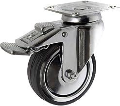 TOOLCRAFT TO-5137914 Zwenkwiel rubber met vastzetrem 80 mm met schroefplaat