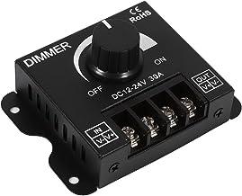 Controlador de LED de faixa, Dimmer de LED Dimmer de faixa de LED, controlador de dimmer de interruptor manual 12V-24V 30A...