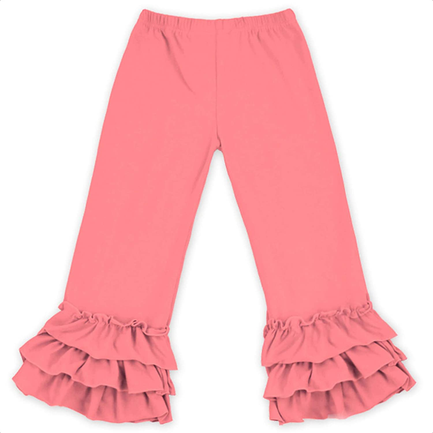 Baby Toddler Little Girls' Ruffle Soft Solid Luxury goods Leggings Ranking integrated 1st place Cotton Fla