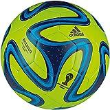 adidas Fußball Brazuca Glider, Solar Slime/Black/Samba Blue, 5, G73629