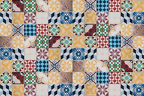 Viniliko Vintage tegels Vinyl tapijt, meerkleurig, 133 x 200 cm