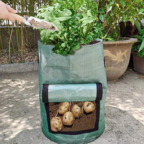 Cuque Bolsa de plantación, sembradora de Patatas Plegable Resistente al Desgaste de fácil Almacenamiento, Accesorios de jardín para Patio, Invernadero, pequeño jardín, balcón