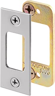 Prime-Line Products E 2483 Prime-Line Security Deadbolt Strike, for Use with Wood Or Metal Doorjambs, 2-3/4 in H X 1-1/8 in W, Steel, Satin Nickel