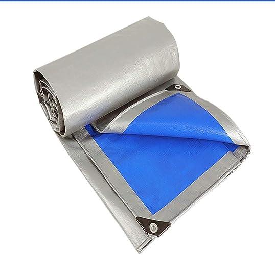 Mysida Tarpaulin Bache épaisse argentée Bleue, imperméable, idéale pour la bache de Prougeection, Bateau, Camping-Car ou Piscine (Taille   5×6m 16.5×20ft)