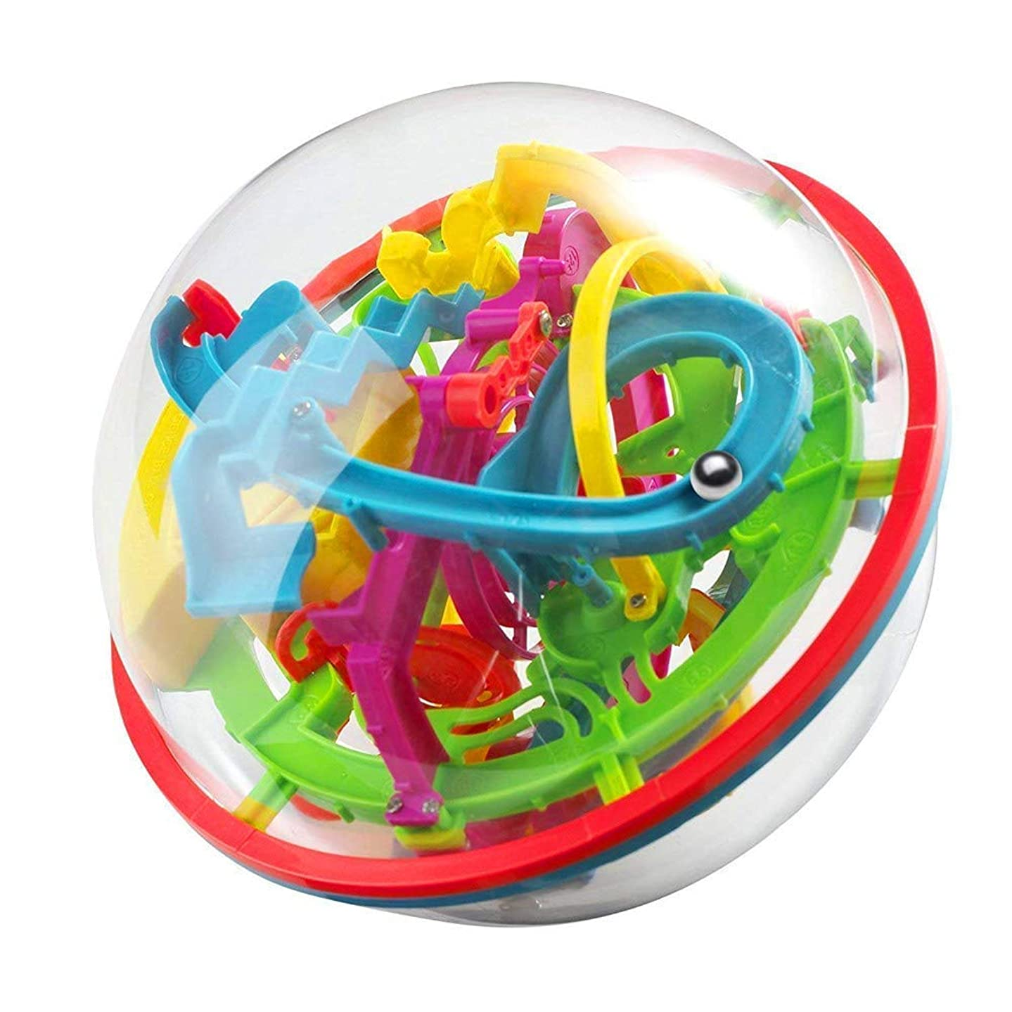 Maze Ball Game 3D Intellect Ball with 100 Challenging Barriers 3D Labyrinth Ball for Kids 3D Puzzle Toy Magical Maze Ball Brain Teasers Puzzle