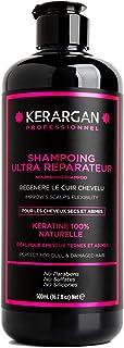 Kerargan Shampoing à la Kératine et à l'huile d'argan soin capillaire, réparateur, nourrissant, hydratant, sans sulfate, s...
