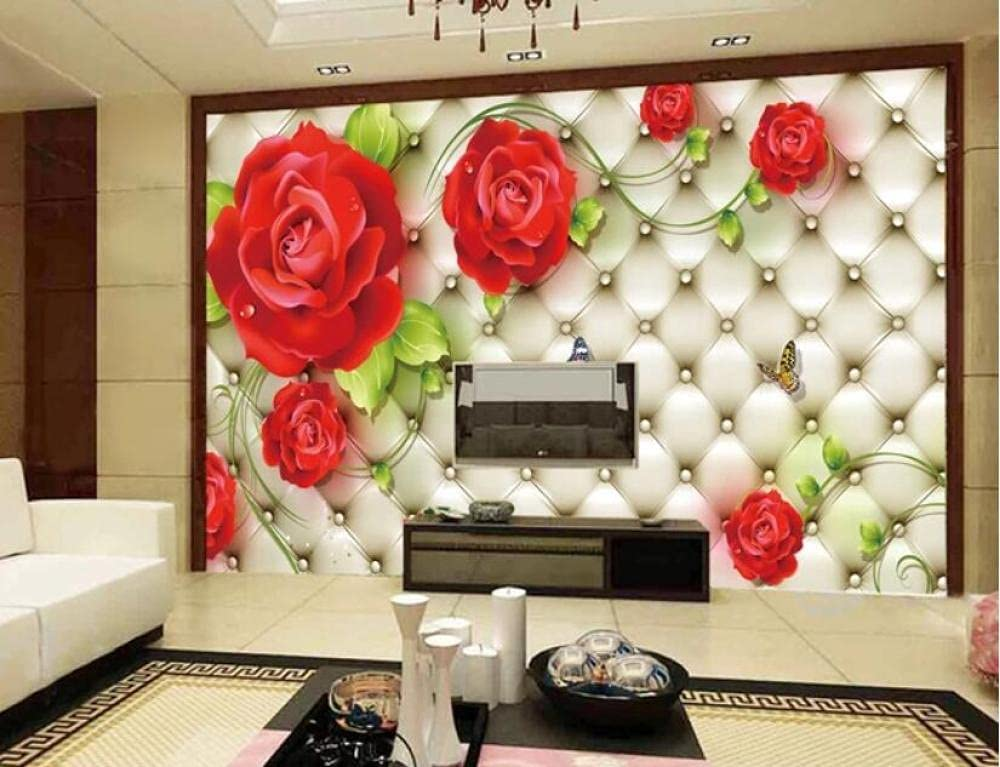 Very popular 3D Wall Paper Large Red Rose Backgroun outlet Room Living Cozy Mural TV