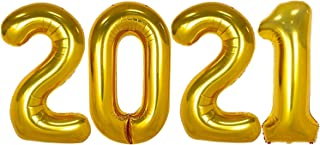 Gold 2021 Balloons for 2021 Graduation Decorations - Large, 40 Inch | Graduation Balloons for Class of 2021 Decorations | ...