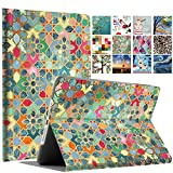 DuraSafe Cases For iPad 4 / 3 / 2 - 9.7' A1458 A1459 A1460 A1403 A1416 A1430 A1395 A1396 A1397 Printed Folio Smart Cover with Protective Sleek & Classic Design - Damask