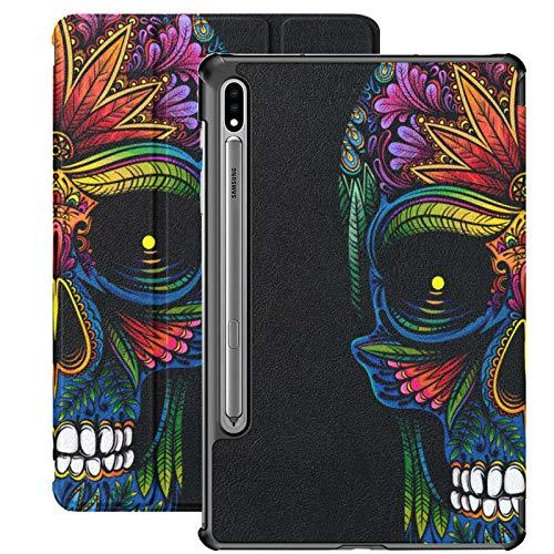 Brigh Ethnic Gothic Sugar Skull Galaxy Tab S7 Plus Custodia 2020 per Samsung Galaxy Tab S7   s7 Plus Custodia per tablet Samsung Stand Cover posteriore Samsung Galaxy Tab S7 Book Cover per Galaxy Tab