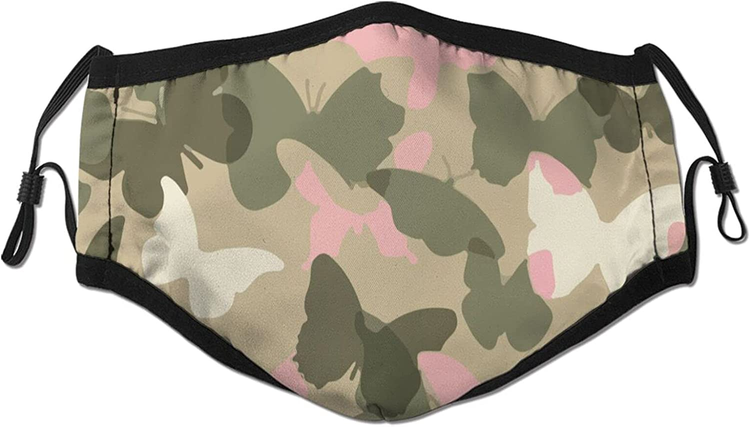 Pink and Green Camo Black Tulsa Phoenix Mall Mall Face Ad Neutral Reusable Washable Mask