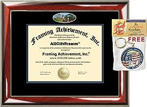 AllGiftFrames Graduation Present Diploma Frame University of Notre Dame School Campus Photo Custom Degree Framing Document Graduation Gift Bachelor Master MBA Doctorate PHD Certificate Holder Case