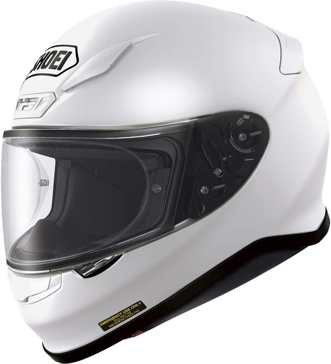 Shoei Solid RF-1200 Sports Bike Racing Motorcycle Helmet - White/Medium