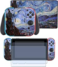 Taifond Decals Stickers Set Faceplate Skin +2Pcs Screen Protector for Nintendo Switch Console & Joy-Con Controller & Dock ...
