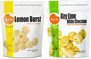 WOW Baking Company Cookies, Lemon Burst, Key Lime White Chocolate, 8-Ounce (Variety Bundle Pack of 2)