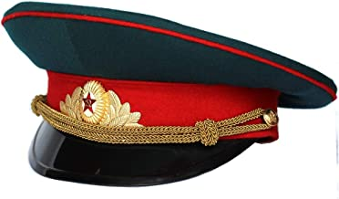 Soviet/ USSR Army Military Infantry Offficer Parade Hat / Cap ORIGINAL + Soviet Officer Cap Badge Russian size 56 (US 7)