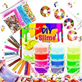 DIY Slime Kit for Girls Slime Supplies for Kids Crystal Slime Party Gift for...