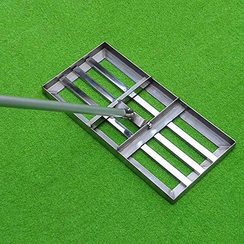 Golf Grass Levelawn mit 43in Griff,20 x 10in Stangenlänge Leveling rake Level Rake Rakel Edelstahl, Garten, Hof, Bauernhof