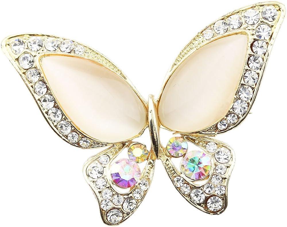 FOY-MALL Fashion Max 83% OFF Butterfly Opal Max 60% OFF Crystal Rhinestone Alloy P Women