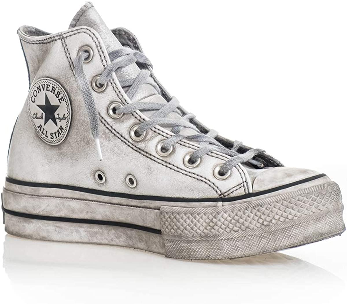 Scarpe da Donna Sneaker Converse all Star Platform Pelle Nera Donna FW 19-20