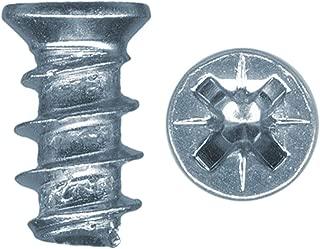Platte River 807282, Fasteners, Wood Screws, 6. 3mmx25mm Fl-Pz Euro Screws Np, 100-pack
