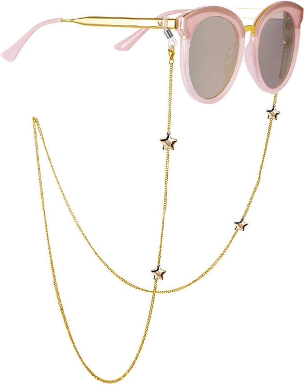 Dainty Star Eyeglass Chain Sunglasses Eyewear Strap Holder Reading Glasses Retainer for Women Men Teen Girls, 28 Inch Length Glasses Holder Chain