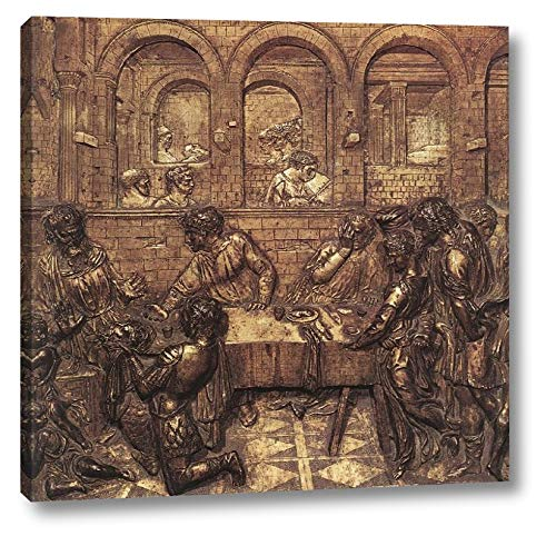 """Herod's Banquet by Donatello - 23"""" x 24"""" Gallery Wrap Canvas Art Print - Ready to Hang"""