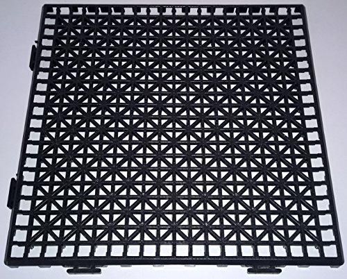NOVINGRECONS Piastrella PP 30 x 30 cm nera (confezione 24 unità). Pavimento in plastica. Pavimento adatto per esterni o interni.