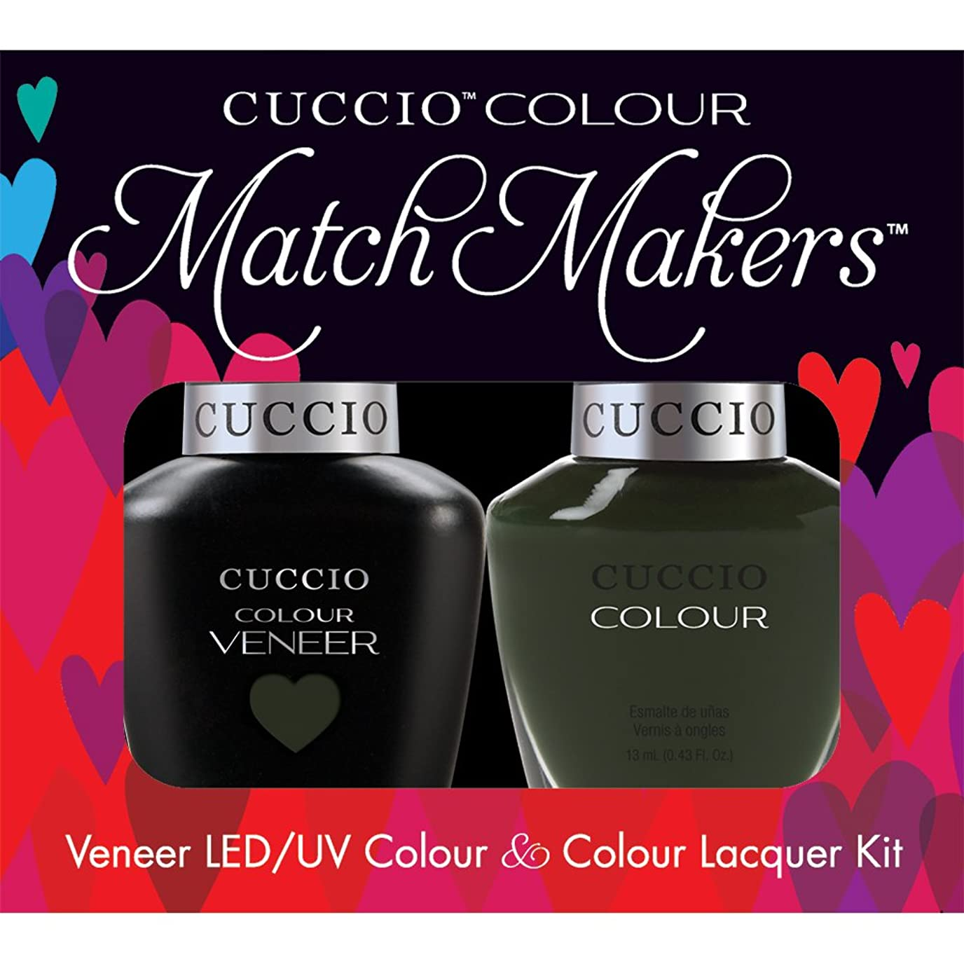 装備するセールオピエートCuccio MatchMakers Veneer & Lacquer - Glasgow Nights - 0.43oz/13ml Each