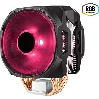 Cooler Master MasterAir MA610P RGB CPU-Kühler '6 Heatpipes, 2 x MasterFan AB 120 RGB Lüfter, RGB LED' MAP-T6PN-218PC-R1