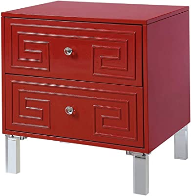 Amazon.com: HEMFV Nightstand Wooden Frame 2 Drawers Sofa for ...