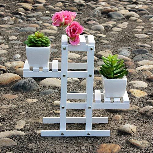 Uuty Blumentreppen, Pflanzenständer, Pflanzenregal, für Innen- und Außenbereiche, 23 * 7 * 21cm